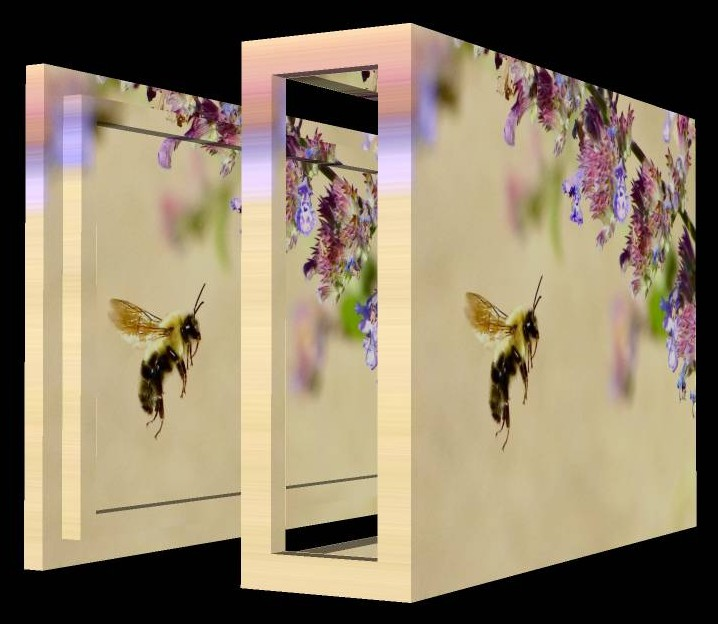 Bee box,open sided, with lid - by Tony Karp - Art in the 3rd Dimension